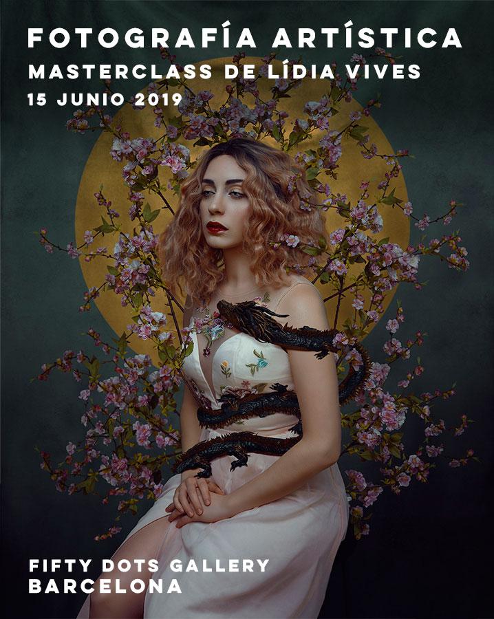 Masterclass de Lídia Vives sobre fotografía artística, en Fifty Dots Gallery, Junio 2019