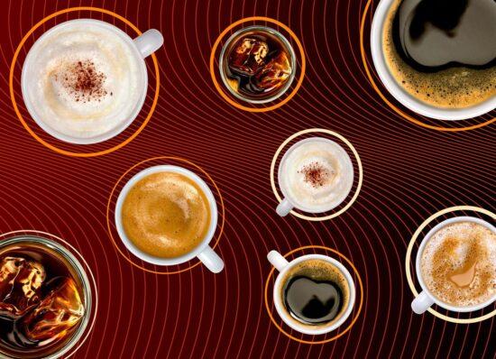 Fotografía publicitaria de alimentación y producto, bodegón de cafés para la franquicia Café Café