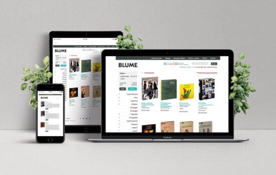 Diseño y desarrollo web del ecommerce de la editorial Blume de Barcelona