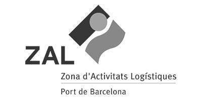 Logo ZAL, Zona d'Activitats Logístiques. Port de Barcelona